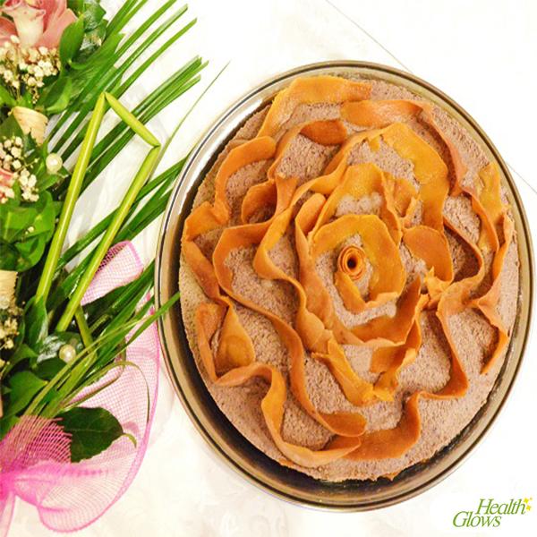 Raw Vegan Peach Cake